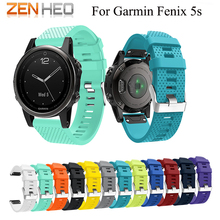 Watchband Strap Silicagel Soft Band Bracelet Wrist for Garmin Fenix 5S Watch Quick Release Easyfit WatchBand