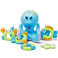 Children Bath Toy Set Octopus Educational Baby Bathing Water Toys Marine Life Starfish Octopus Crab Lifebuoy Best Gift For Child