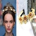 Europa e nos Estados Unidos novos modelos com pista Barroco Anjo exagerada cabeça hoop Headband Da Flor 0145