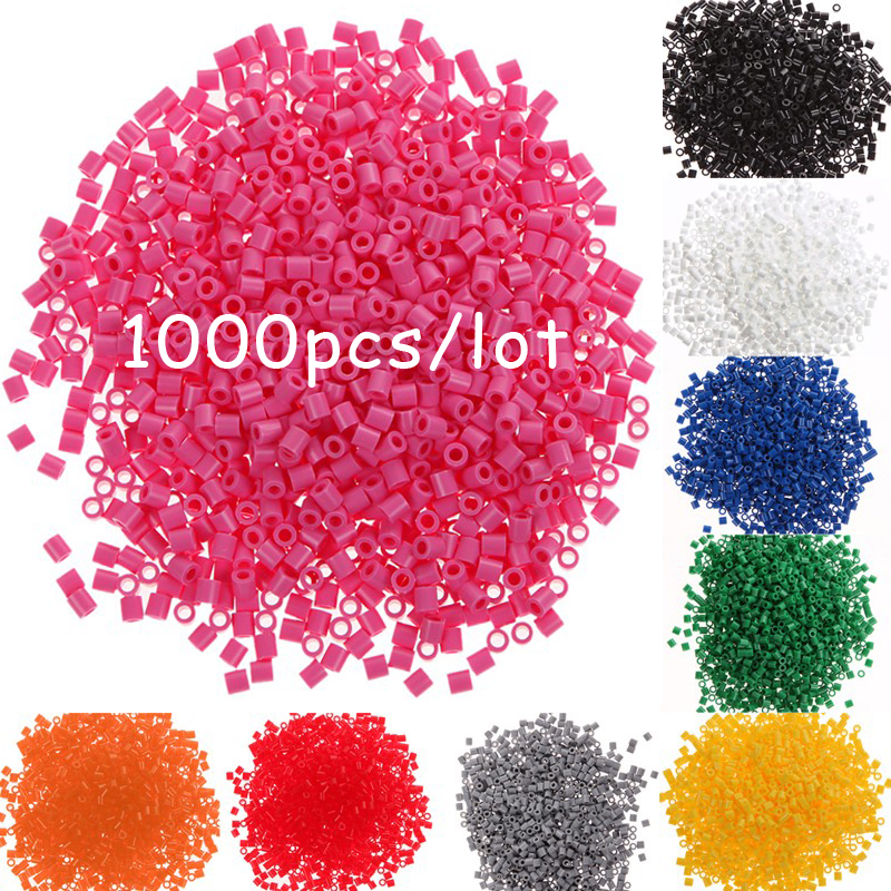DOLLRYGA 2.6mm Hama Beads 1000pcs 72colors Beads For Kids Perler Beads DIY Puzzles Peas High Auality Handmade Gifts Children Toy