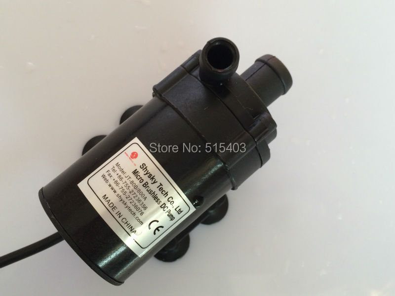 Micro DC Pump 800/800A-H, Brushless Magnetic Drive Submersible Centrifugal Water Pump 24V 750L/H,7.5M, Aquarium Solar Fountain