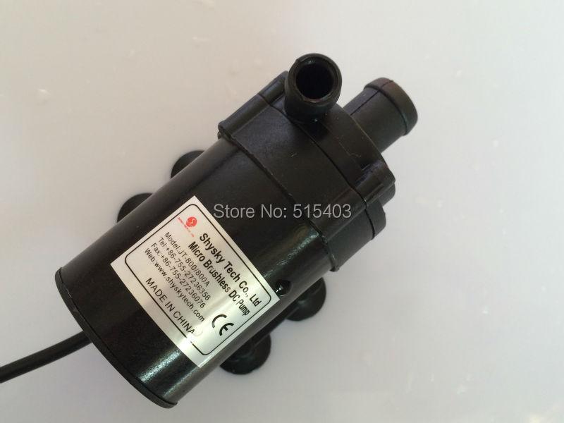 Micro DC Pump 800/800A H, Brushless Magnetic Drive Submersible Centrifugal Water Pump 24V 750L/H,7.5M, Aquarium Solar Fountain