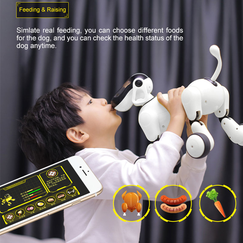 HeLIC Max AI électronique pour animaux de compagnie Mobile télécommande intelligente Robot chien APP Manipulation Bluetooth haut-parleur multifonction