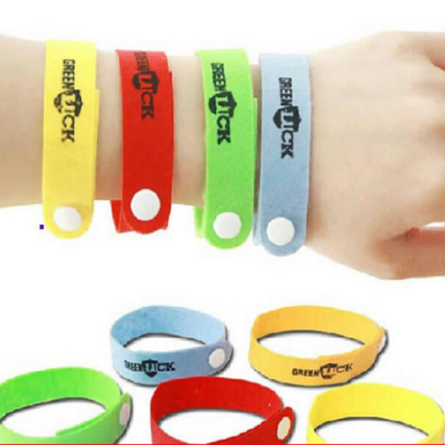 50 pcs/lote nouvelle tueur de moustique Bracelet anti , moustique Bracelet  Bracelet pour bébé