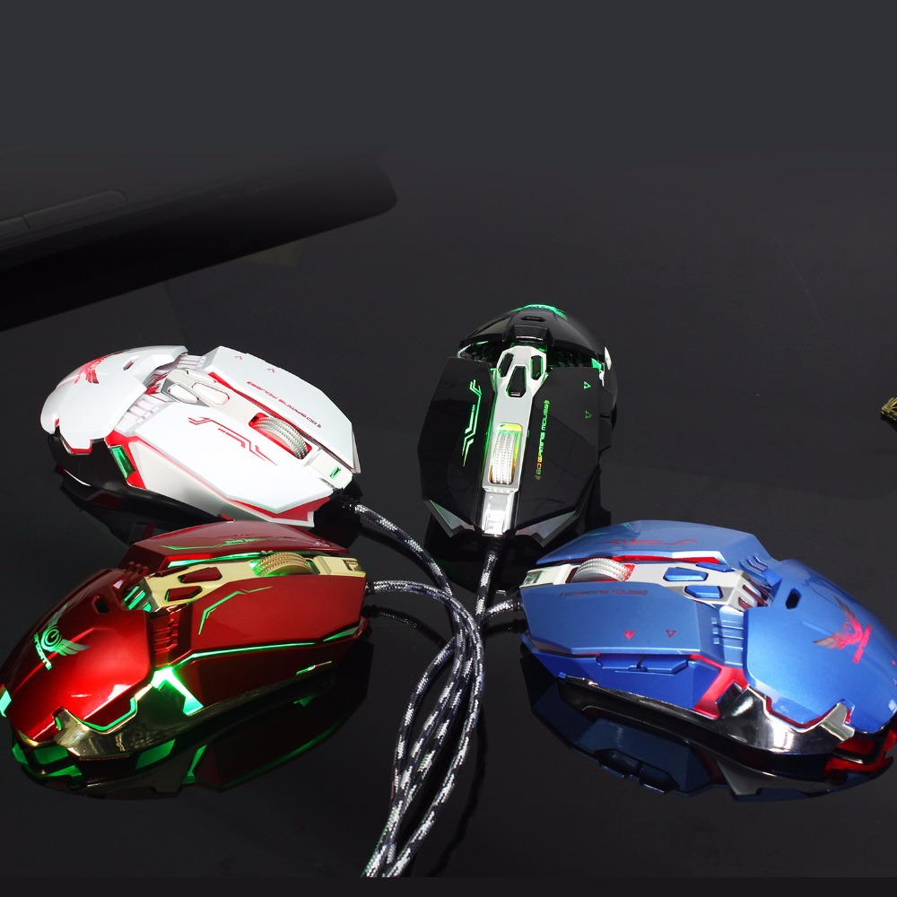 Wired Gaming Mouse X800 Mechanical Macros Define Optical Mouse With 8Button RGB Backlight for Desktop pc Computer for adults in Mice from Computer Office