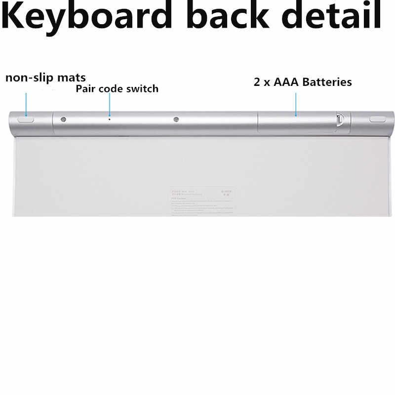 78 Kunci Rusia Bahasa Inggris Keyboard Nirkabel Keyboard Bluetooth Universal untuk Iphone Ipad Mac Win XP 12' PC Rumah Kantor Keyboard