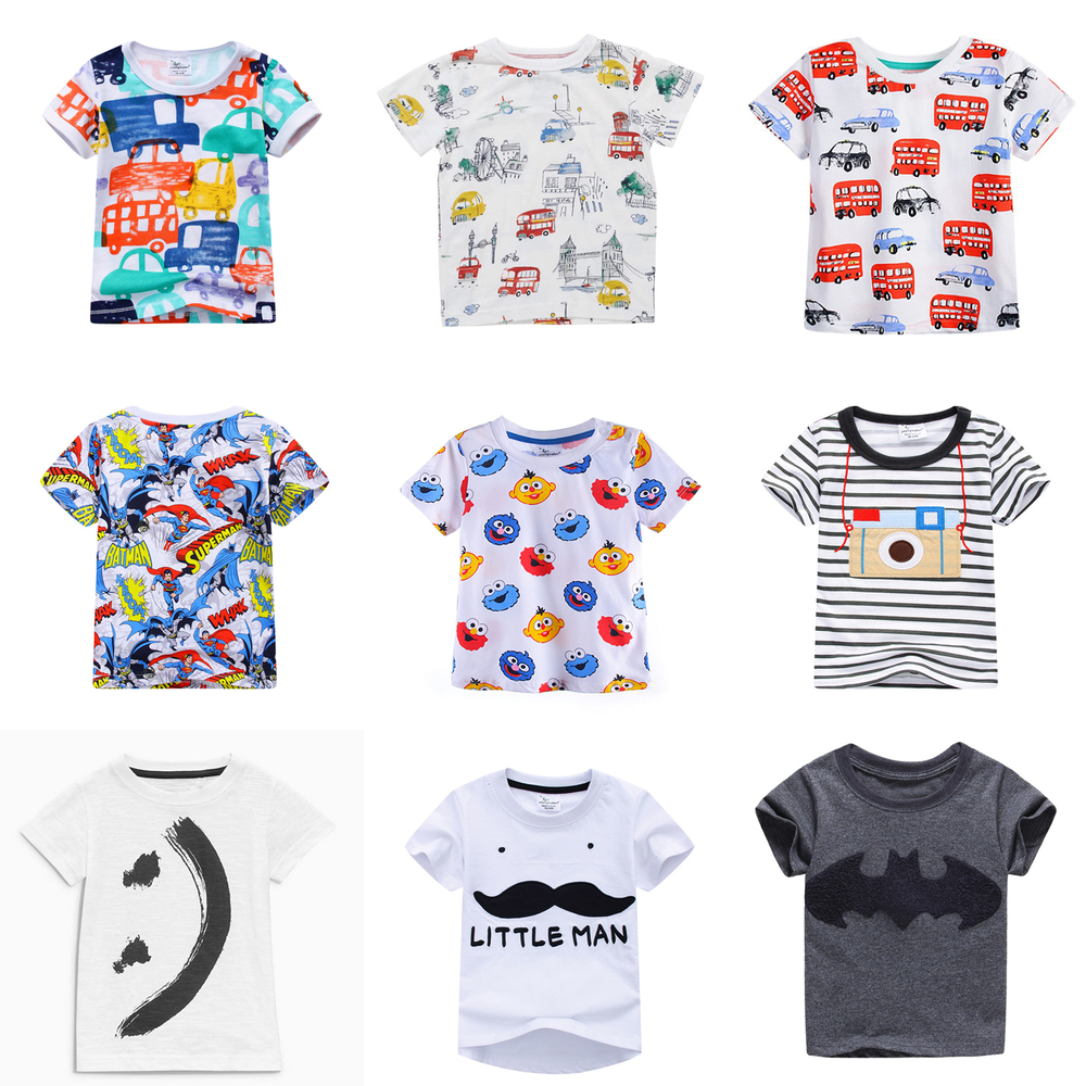 2018 Hot Fashion Brand Boys T-shirt Kids Tops Tee Designer Toddler Baby Boys T Shirts Cotton Short Sleeve Children Tops Tee
