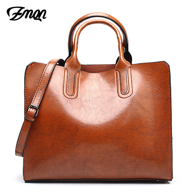 Zmqn Tote Bags For Women Pu Leather Handbags Designer Casual Famous Brand Large Shoulder