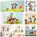 Mickey mouse minnie mouse etiqueta de la pared niños parvulario decoración diy adhesivo mural vinilo removible wallpaper decoraciones