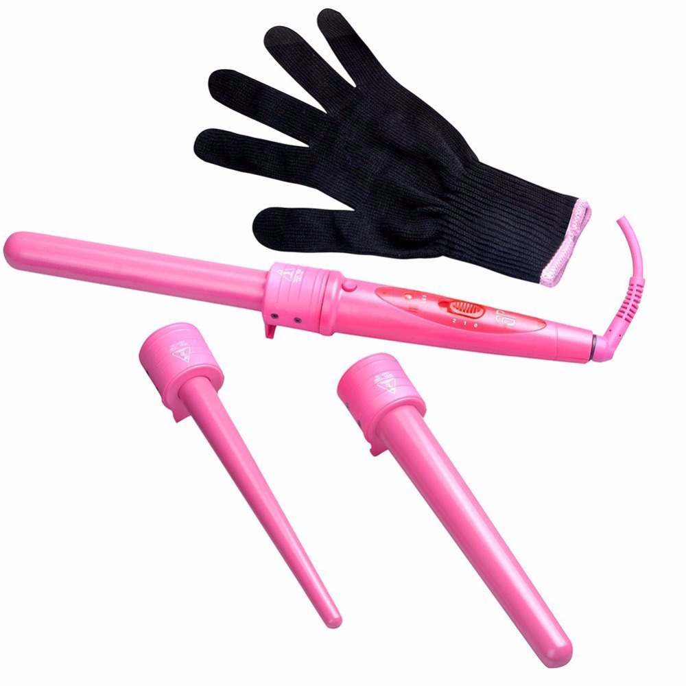 Pro Series 5 in 1 Curling Wand Set Hair Care Curling Wand Parts Clip 09-32mm Iron Hair Curler Set Hair Styling ckeyin 9 31mm ceramic curling iron hair waver wave machine magic spiral hair curler roller curling wand hair styler styling tool