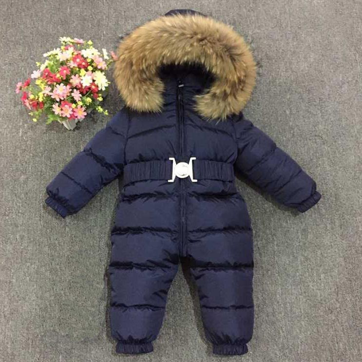 RUSSIA new feather duvet winter children go out to ski, big animal fur collar, fluffy down jumpsuitRUSSIA new feather duvet winter children go out to ski, big animal fur collar, fluffy down jumpsuit