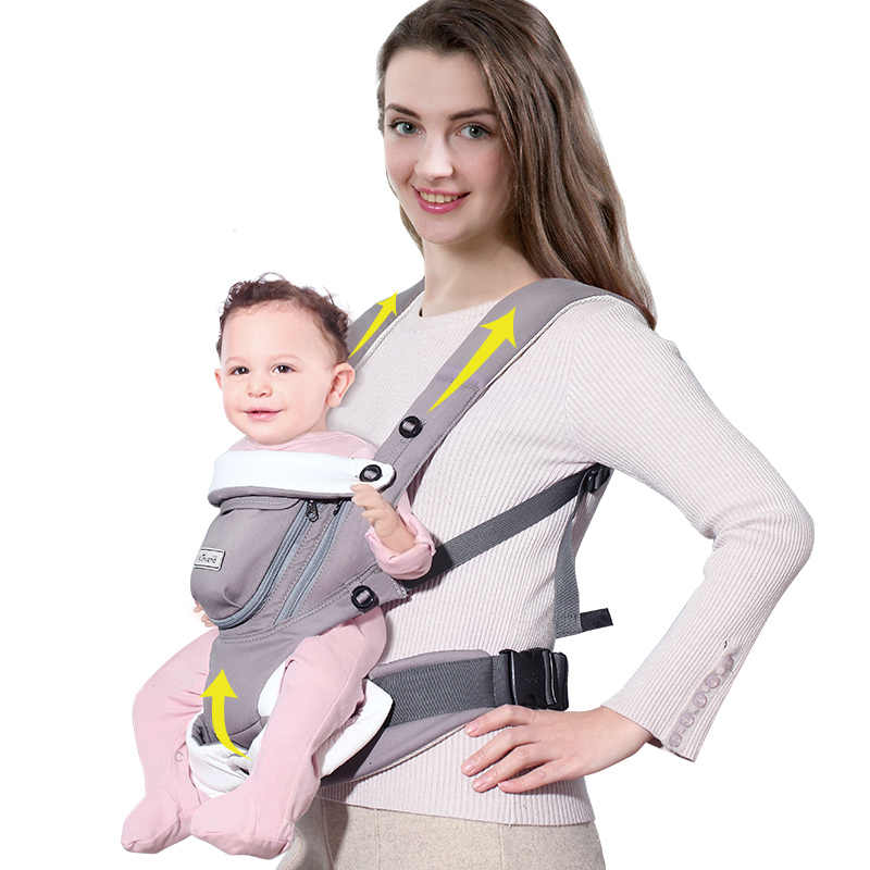 Sunveno New Baby Carrier Backpack 0 12 Months Breathable Kangaroo Baby Sling Cotton Heaps Infant Holder Mobile Pouch Wrap Baby