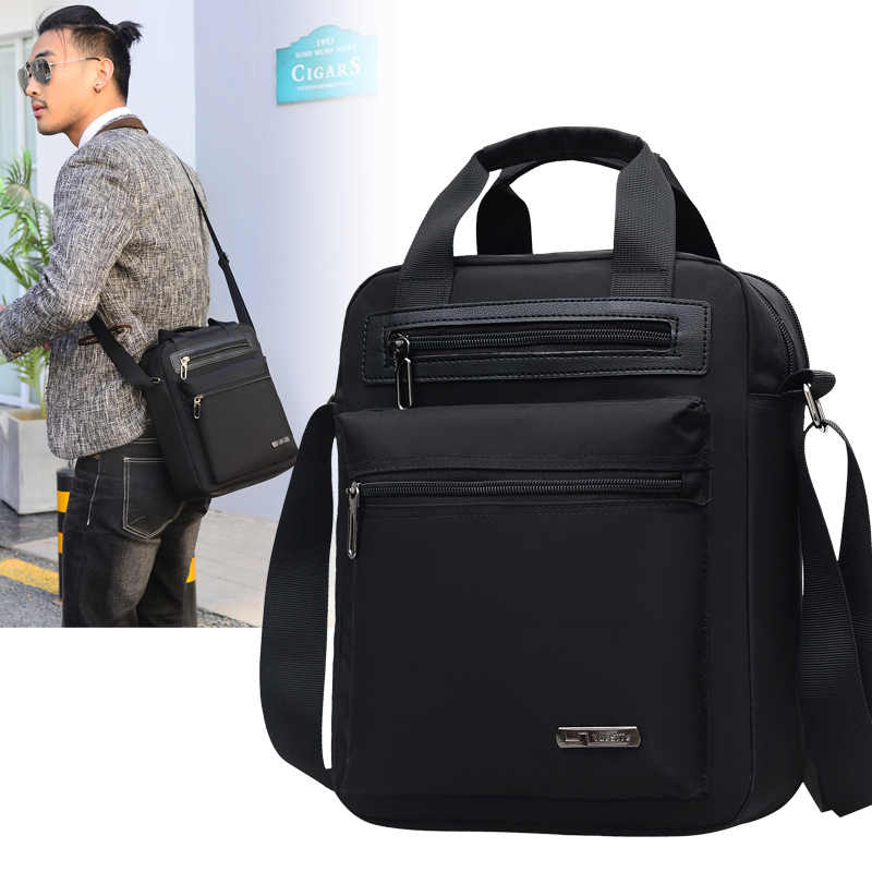 Men's Crossbody Bag Messenger Bag Male Waterproof Nylon Satchel Over The Shoulder Bags Business Handbag Mini Briefcase Handbag
