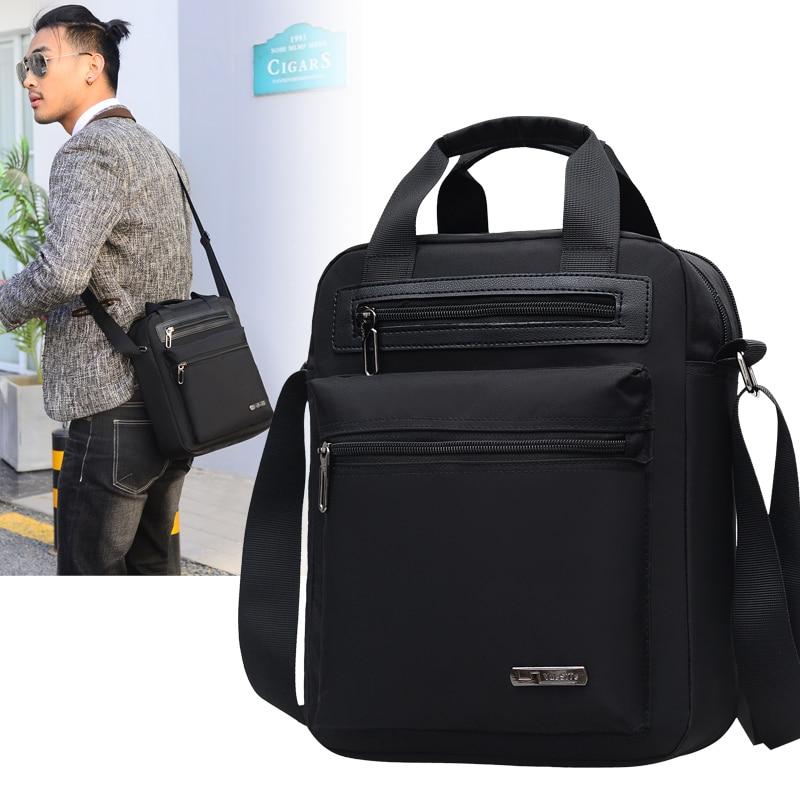 Men's Crossbody Bag Messenger Bag Male Waterproof Nylon Satchel Over The Shoulder Bags Business Handbag Mini Briefcase Handbag