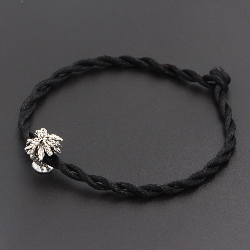 2020 New Coconut Tree Beads 4mm Red Thread String Bracelet Lucky Red Handmade Rope Charm Bracelet for Women Men Jewelry