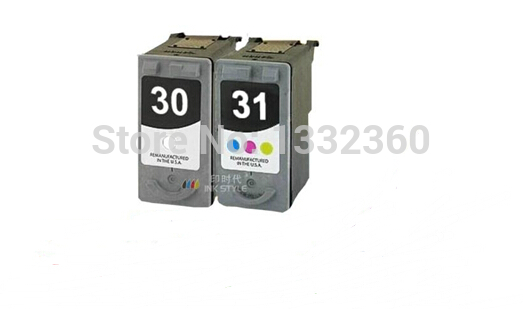 2pk black & Color Ink Cartridge For Canon PG 30 CL 31 pg30 pg-30 for Canon PIXMA iP1800 iP2600 MP140 MP210 MP470 MX300 printer