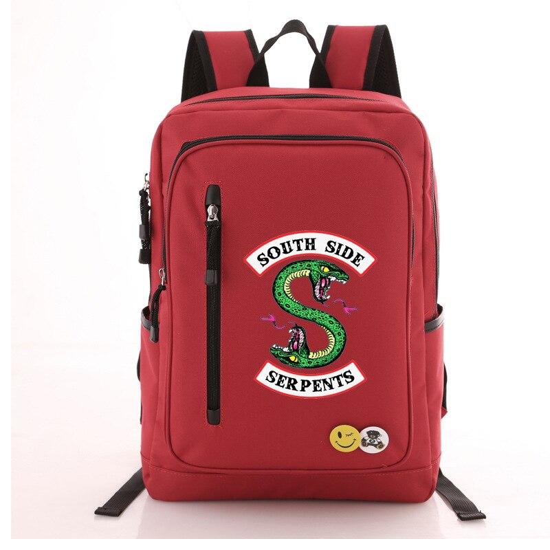 1de4bdc1a2 Riverdale South Side Serpents Backpack Shoulder travel School Bag Bookbag  for teenagers men women Casual Laptop Bags