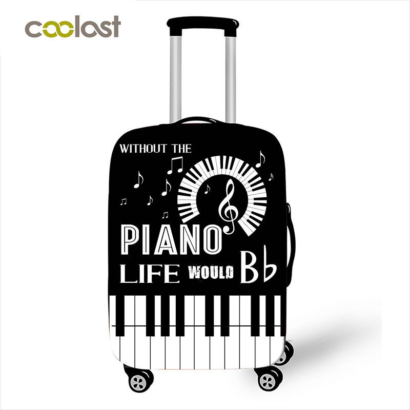 Fashion Music Piano Elastic Luggage Protective Covers Travel Accessories Anti-dust Suitcase Case Cover For 18-32 Inch