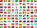 Conjunto Completo de todo mundo bandeiras nacionais 200 país ou região bandeiras 14*21 cm material de poliéster com plástico pólos