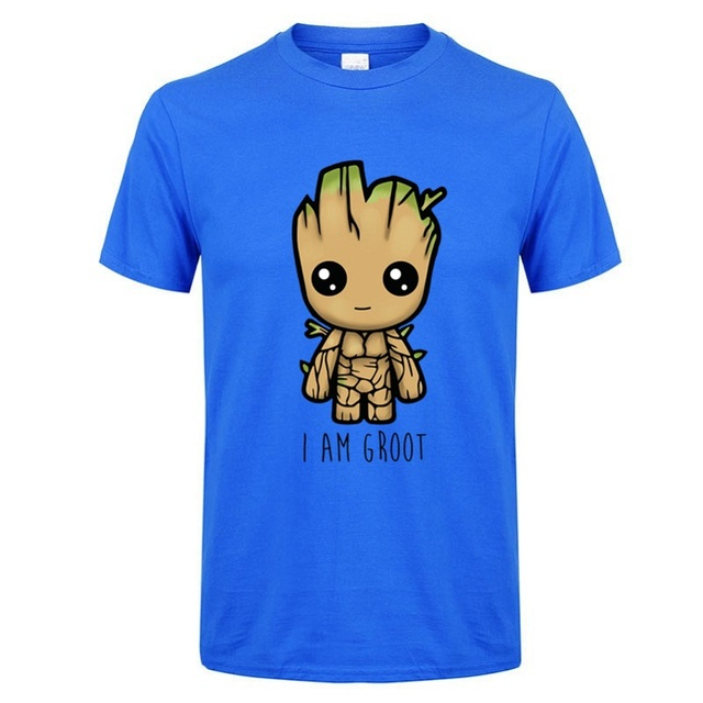 2018 New I Am groot t shirt men Casual Fashion tshirt boy girl hip hop streetwear t-shirt  harajuku top tees camisetas hombre