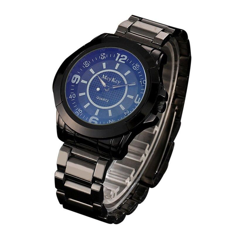 купить Men Watch Gold Stainless Steel Rhinestone Analog Quartz Watch Luxury Simple Style Wrist Watches men Clock relogio masculino недорого