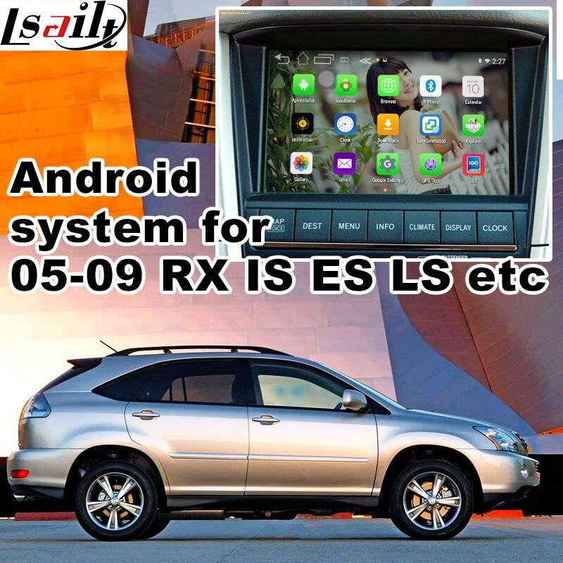 Android 6.0 GPS навигации коробка для 2005-2009 Lexus IS ES GS LS <font><b>RX</b></font> видео интерфейс коробка gvif зеркало ссылка YouTube играть МПО waze
