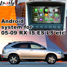 Android 6.0 de navegação GPS box para 2005-2009 Lexus Is ES GS caixa de interface de vídeo GVIF LS RX espelho link youtube jogar iGO waze