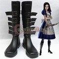 Alice Madness Returns Alice Cosplay Zapatos Botas de Las Mujeres Adultas Accesorios Por Encargo D0919 DEL