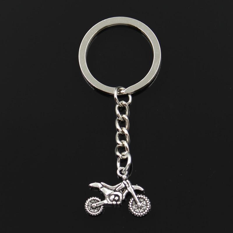 New Fashion Keychain 17*23mm motorcycle motorcross Pendants DIY Men Jewelry Car Key Chain Ring Holder Souvenir For Gift