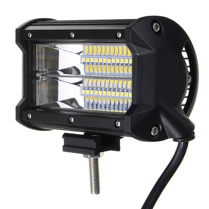 Waterproof IP67 5 Inch 72W LED Work Light Bar Flood Lamp Driving Off Roads LED Car Work Lights For Boat Truck DC10-30V waterproof 72w 4300lm 6000k 24 led white light car work project diy light bar dc 10 30v