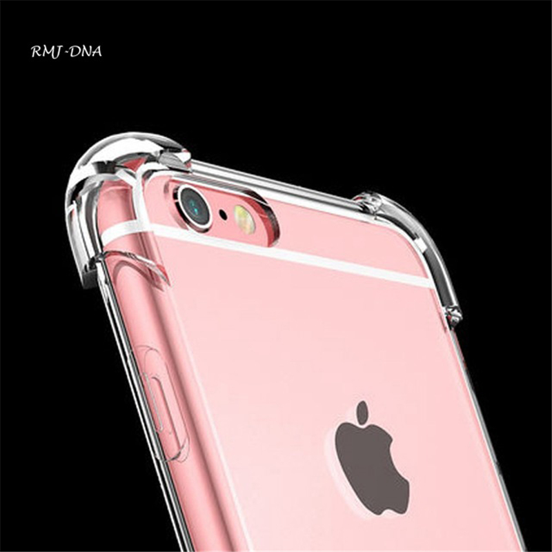 Casos de telefone pára-choques para iphone 6 6 s 7 plus coque capa anti-knock clear tpu silicone capa para iphone 6 6 s 7 plus case phone case