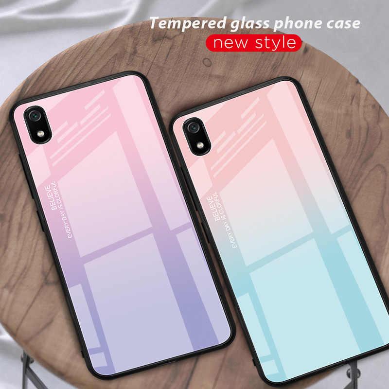 勾配強化ガラス xiaomi redmi K20 9 t プロ 7A 注 7 5 プラス 6 プロ A2 lite 塗装パターン電話ケース裏表紙