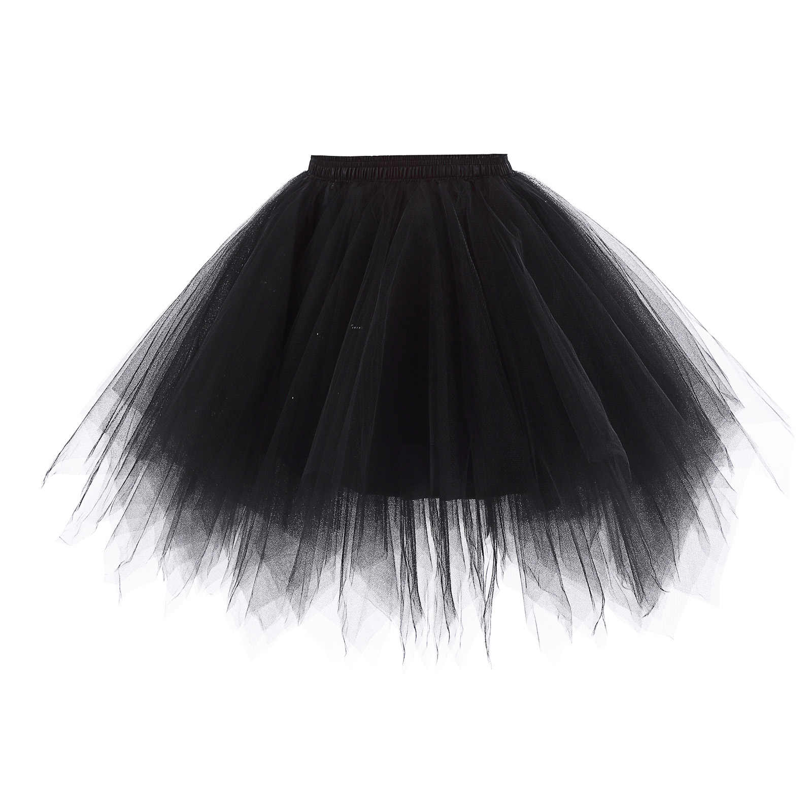 5a65025fc stock Women white black red Soft Tulle Netting Retro skirt Vintage  Crinoline Petticoat Unde short tutu