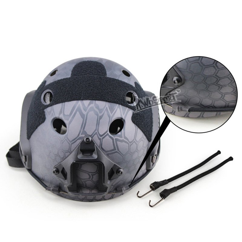 WoSporT 2 Pieces Fast Helmet Dedicated Guide Parts Nylon Rope+High Quality Rubber Sports Safety Helmet DIY Equipment Accessories