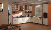 Твердой древесины Живопись кухонный шкаф (lh sw083)