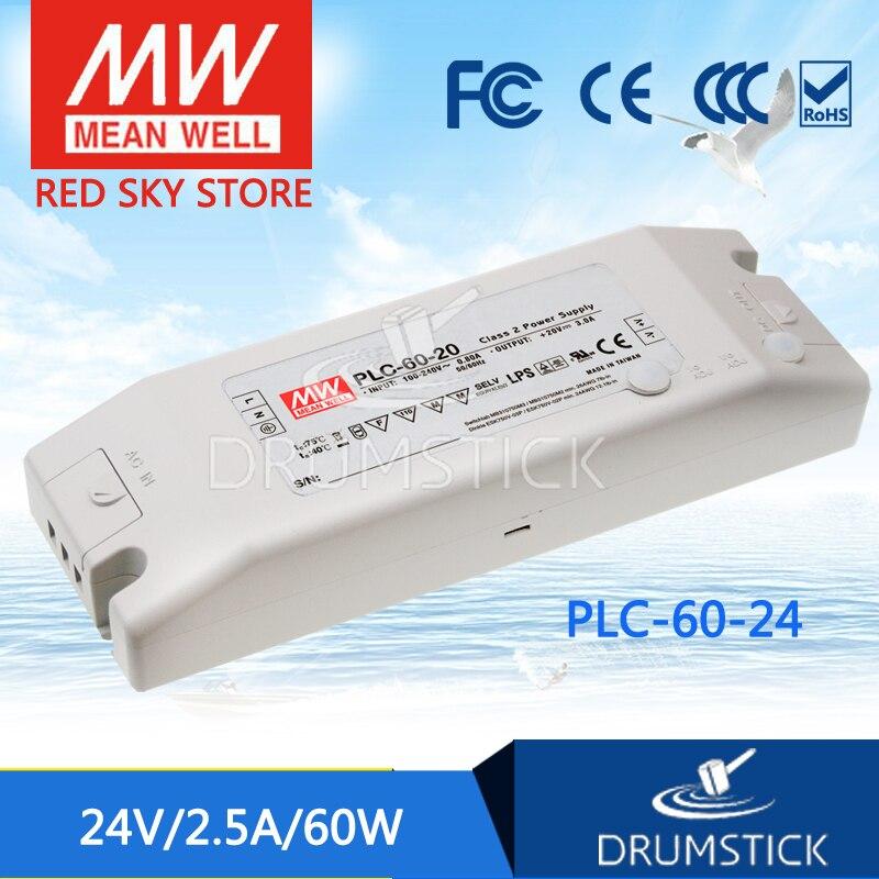 цена на Advantages MEAN WELL PLC-60-24 24V 2.5A meanwell PLC-60 24V 60W Single Output LED Power Supply