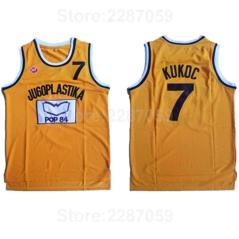 Ediwallen Jugoplastika Split Pop 7 Toni Kukoc Jersey Men Yellow Sport  Stitched Basketball Kukoc Moive Jerseys 9213d87ed