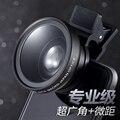 2 in1 Universal Grande Angular + Macro Lente Da Câmera para Smartphone Clip-on kit Len de Fácil Utilização