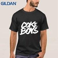 Tişörtlerin Boya A + Coke Boys T Gömlek Kıyafet S ~ 3xl Beyaz Erkekler O Boyun Gömlek Spor Pamuk basit