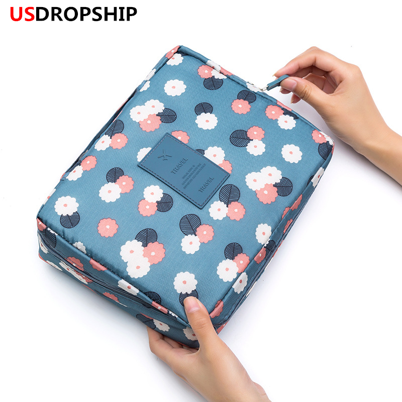 USDROPSHIP Hot travel cosmetic bag Multifunction women toiletries organizer makeup bags waterproof female storage make up Cases конденсатор jantzen mkp cross cap 400v 7 5 uf