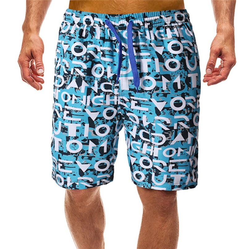 Surfing Beach   Shorts   Men Letter printed beach   Board     Shorts   swimming trunks Surfing Running   Short   Pant #2H07