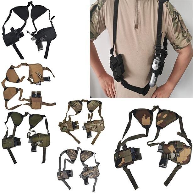 Novo Ao Ar Livre Tático de Segurança Da Polícia Universal Esquerda Mão Direita Pistol Bolsa de Ombro Coldre para Glock 17 19 22 23 31 32