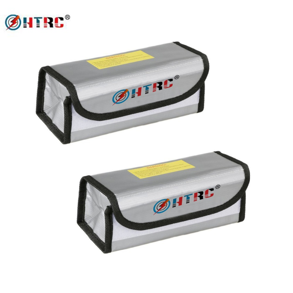 2Pcs HTRC Lipo Safe Guard Battery Guard Charging Protection Explosion Proof Sack Pouch Protector Fire Resistant Lipo Battery Bag