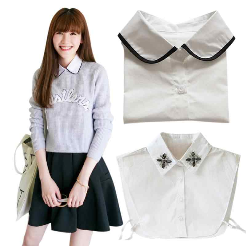 Spring Design Women Lapel Fake False Collar Detachable Collar 17 styles  For Choice