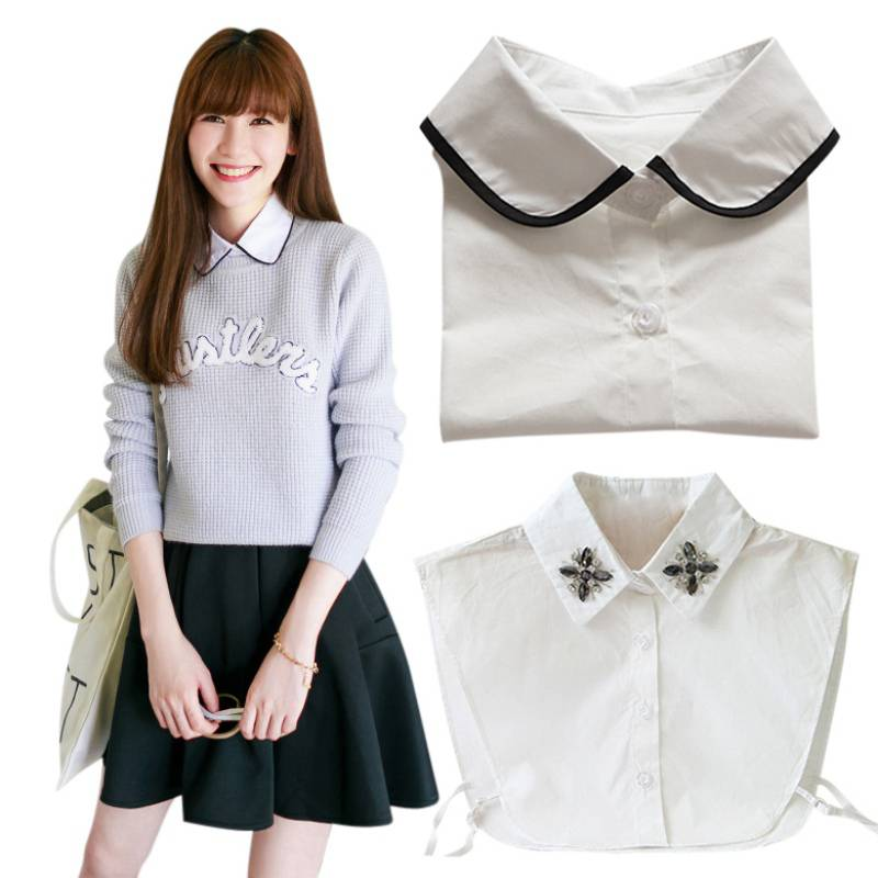 Spring Design Women Lapel Fake False Collar Detachable Collar 17 Styles  For Choice