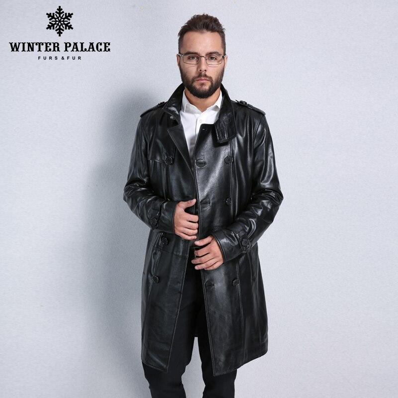 Chaqueta de cuero más vendida, cuero genuino, cuello mandarín, piel de oveja, abrigo para hombre, chaqueta de cuero para hombre, chaquetas y abrigos de cuero para hombre