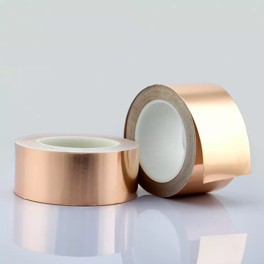 30M*0.06mm Single Electric Conduct Self-Adhesive Copper Foil Tape for Magnetic Radiation Electromagnetic Wave