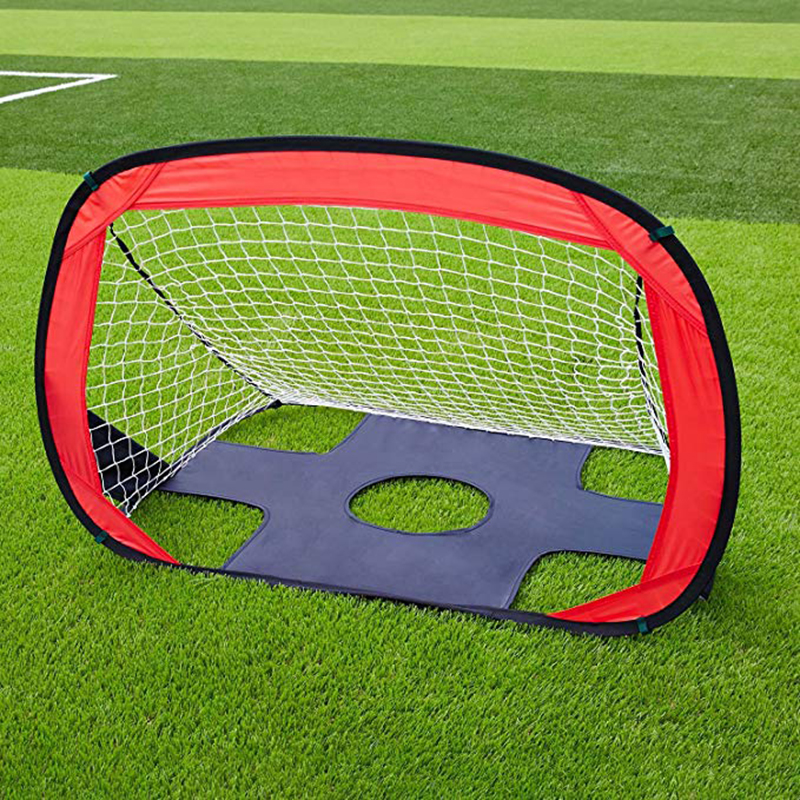 2-in-1 Football Goal, HuIESON Foldable And Portable Soccer Goal/Quick Up Goal/Pop Up Soccer Goal For Kids (43.3