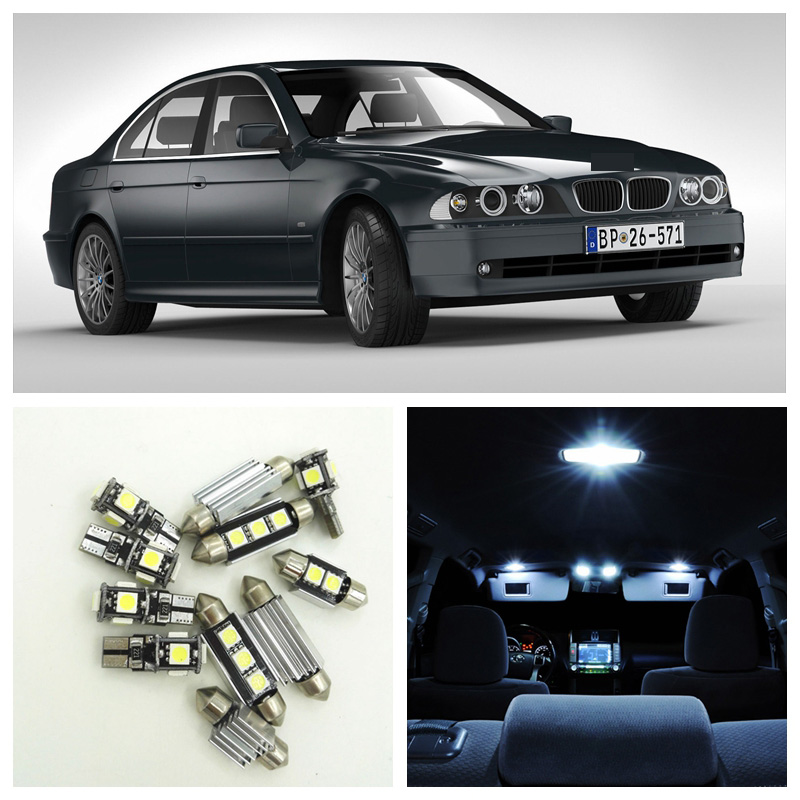 18pcs Red LED Interior Light Package Fit For 1997-2003 BMW 5 Series M5 E39