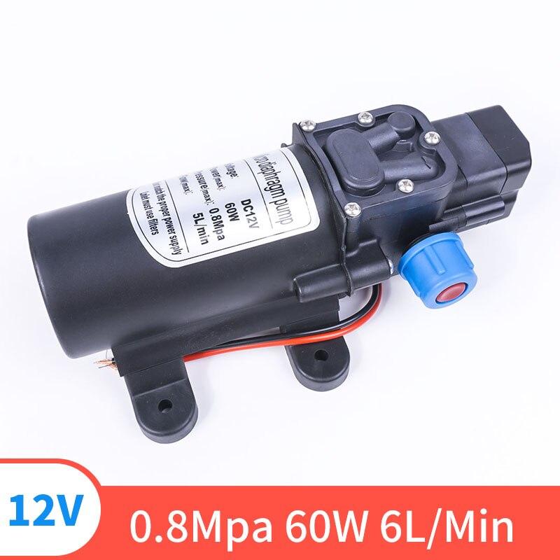 DC 12V 60W 0.8MPA 5L / Min Water High Pressure Diaphragm Pump Self-priming Pump Automatic Switch For Liquid Filling Machine
